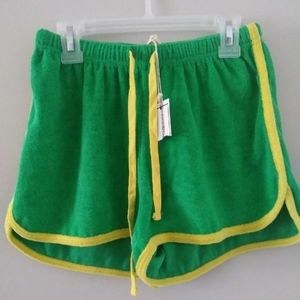 New green and yellow shorts